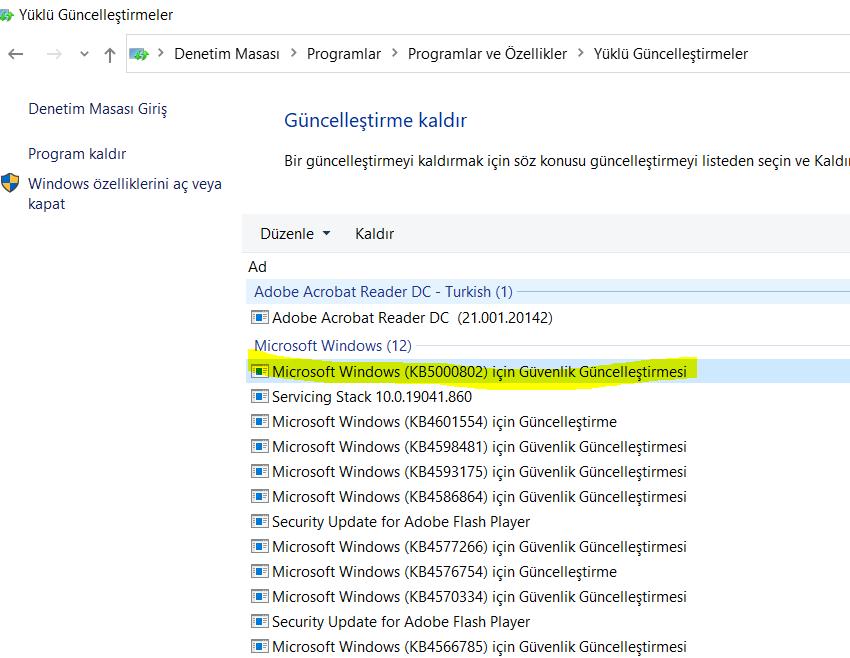 Kyocera Windows Update Sorunu